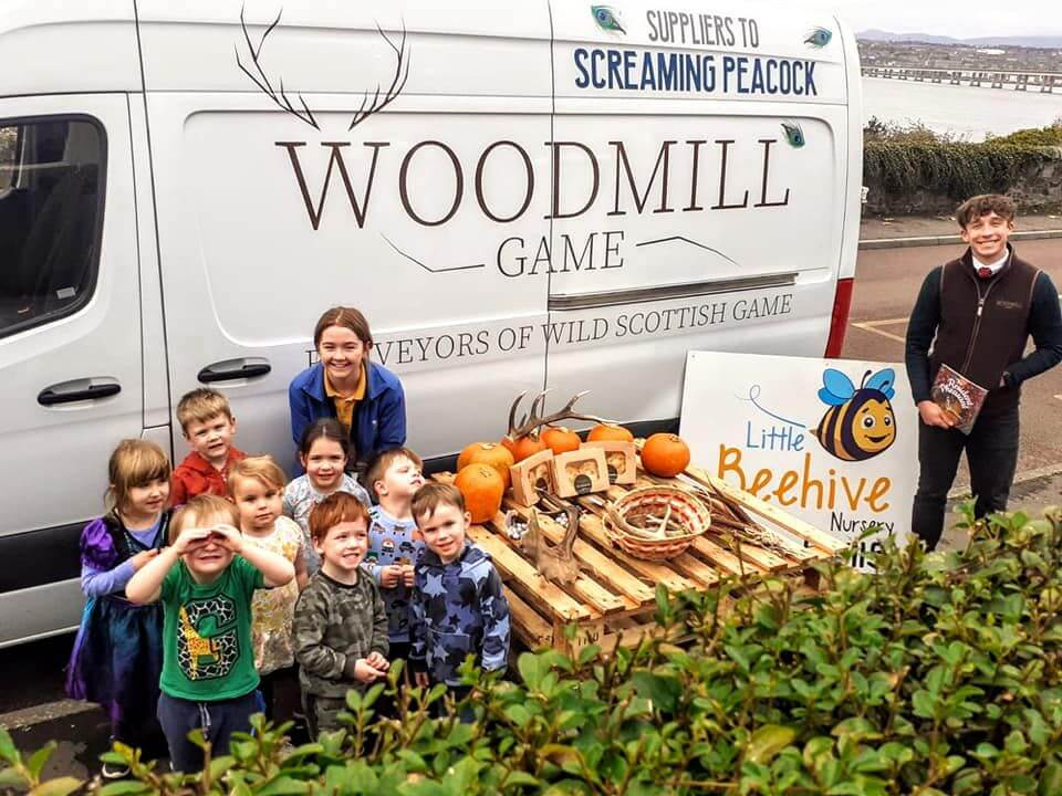 Woodmill Game and their recent work with The Little Beehive Nursery (Tayport).